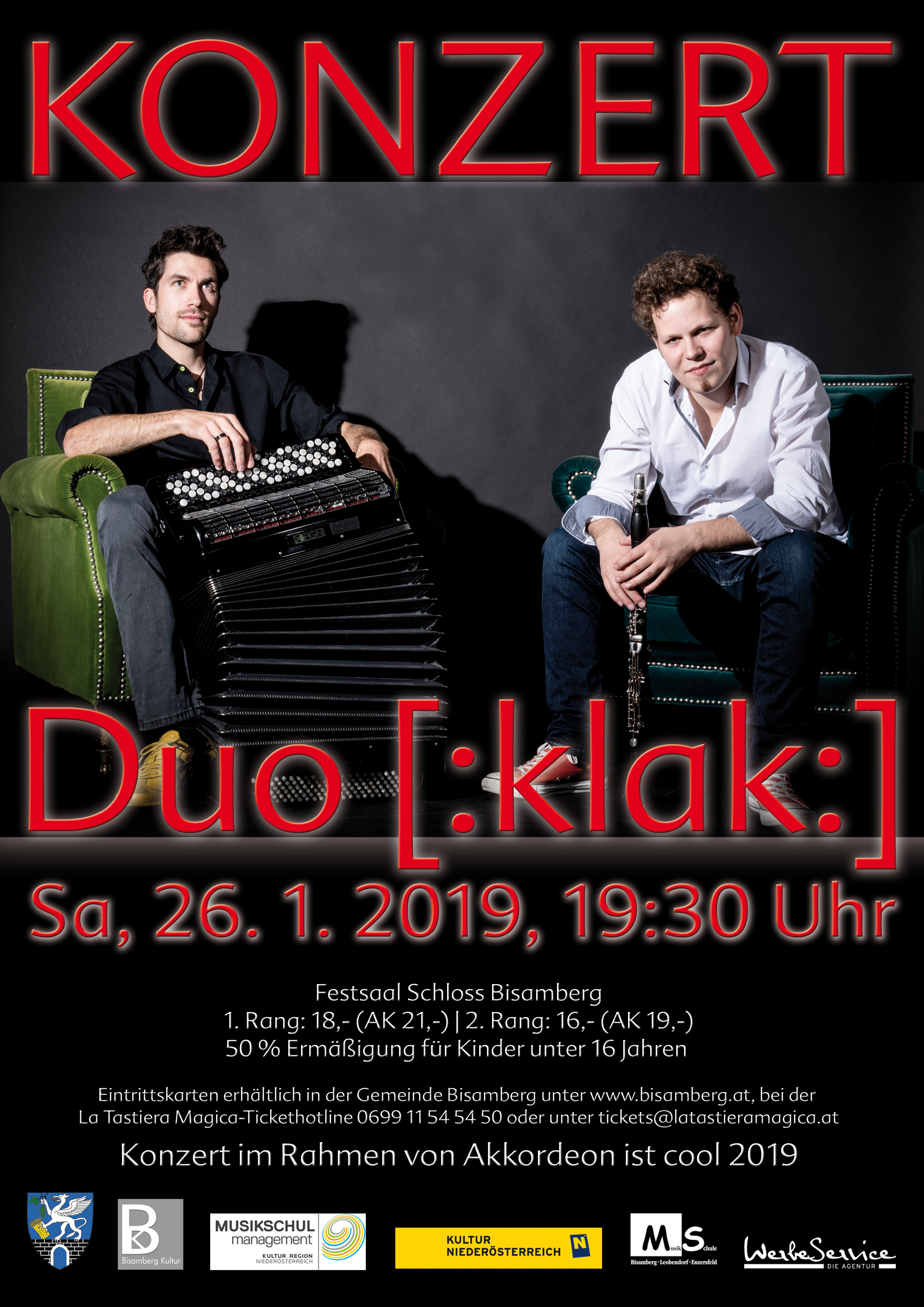 Akkordeon ist Cool 2019 Konzert: Duo Klak